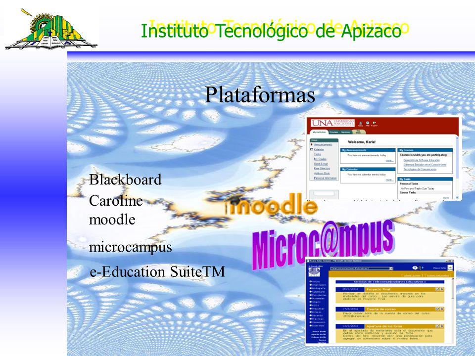 Plataformas Microc@mpus Blackboard Caroline moodle microcampus