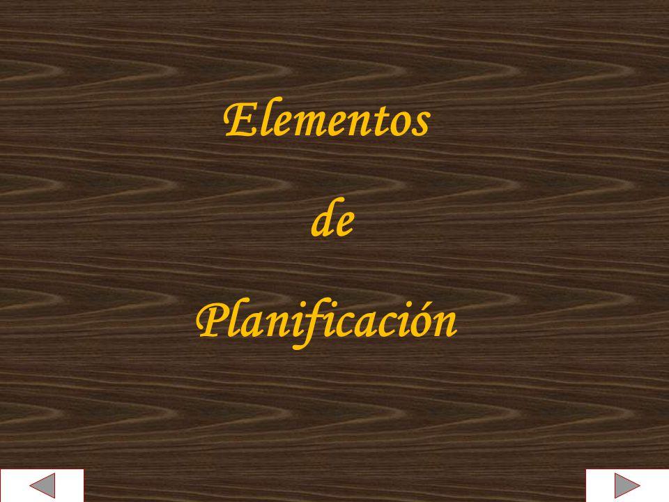 Elementos de Planificación