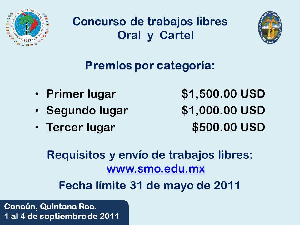Concurso de trabajos libres Oral y Cartel