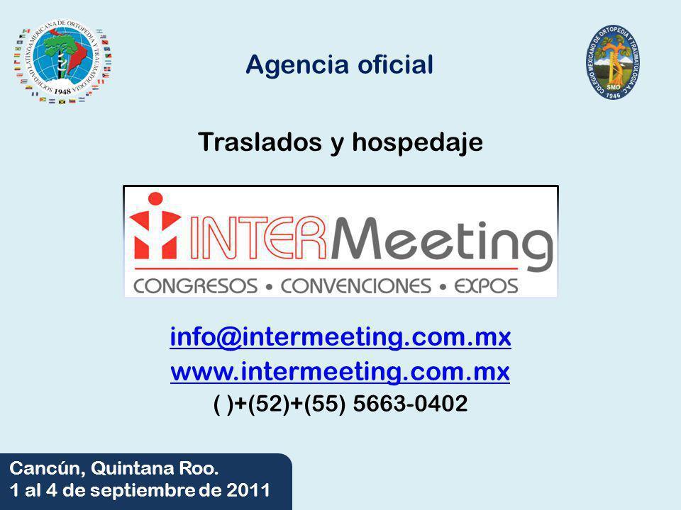 Agencia oficial Traslados y hospedaje info@intermeeting.com.mx
