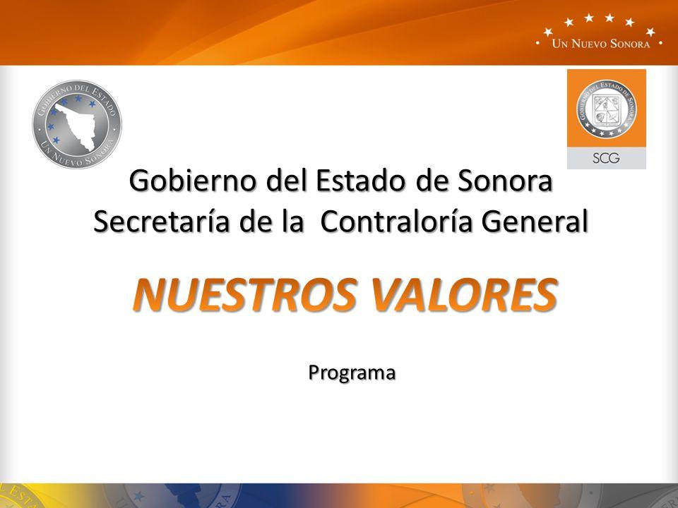Gobierno del Estado de Sonora Secretaría de la Contraloría General