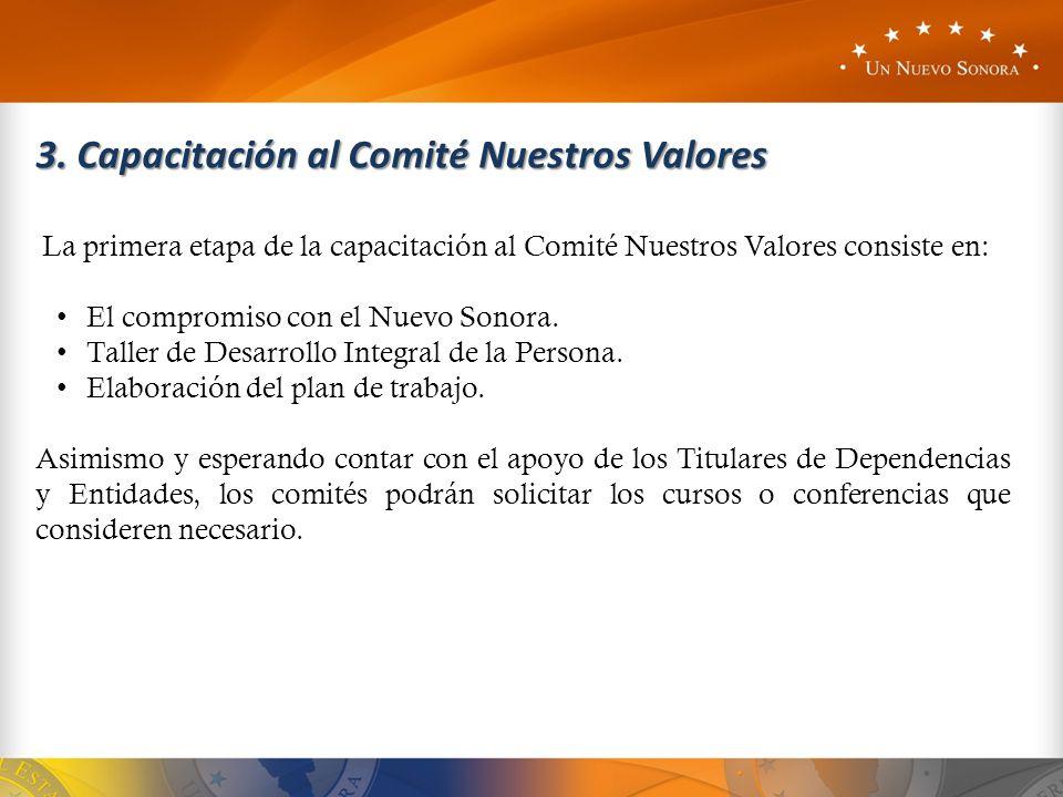 3. Capacitación al Comité Nuestros Valores