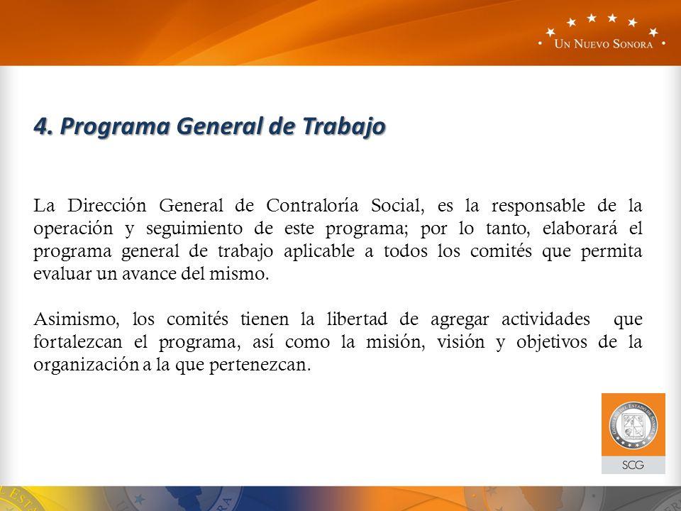 4. Programa General de Trabajo