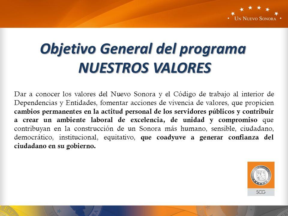 Objetivo General del programa