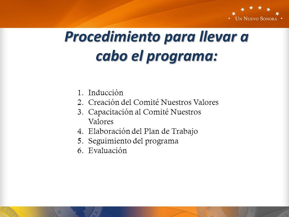 Procedimiento para llevar a cabo el programa: