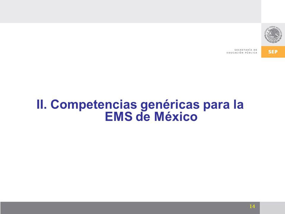 II. Competencias genéricas para la EMS de México