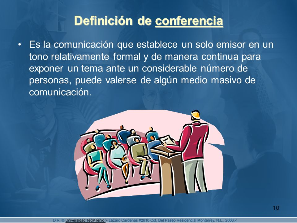 Definición de conferencia