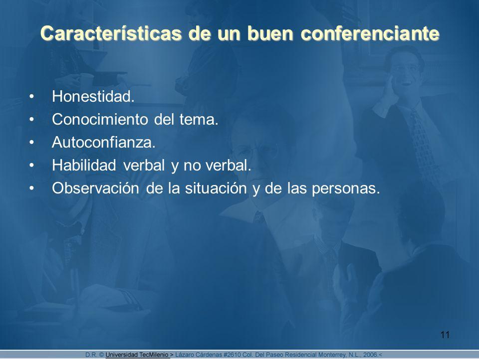 Características de un buen conferenciante