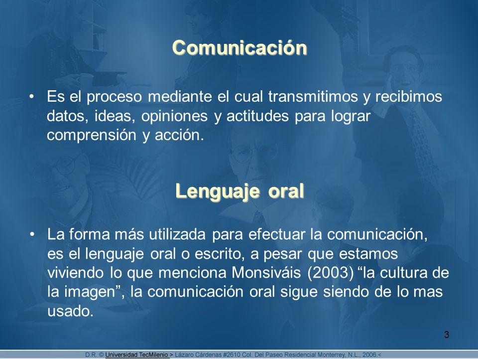 Comunicación Lenguaje oral