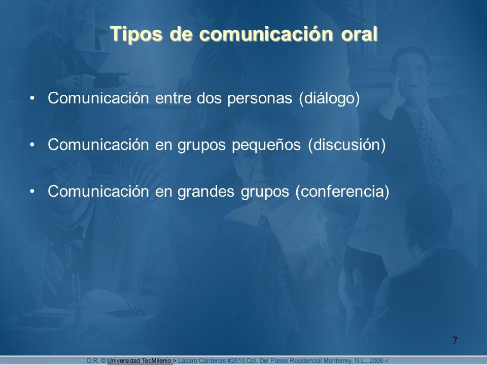Tipos de comunicación oral