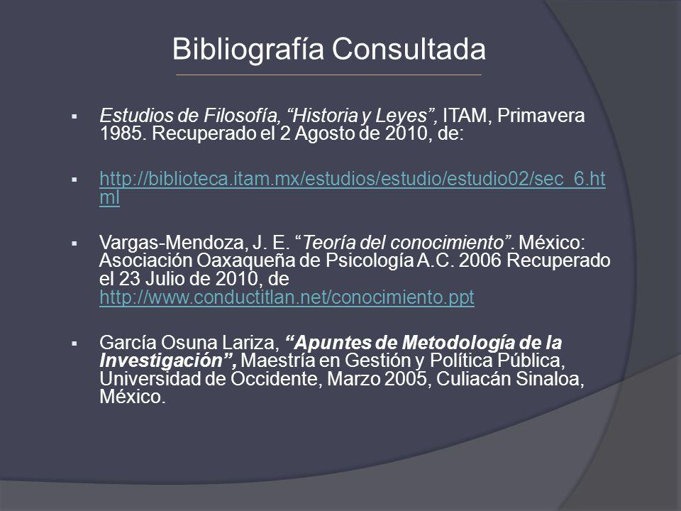 Bibliografía Consultada