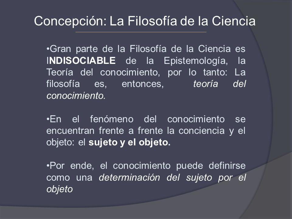 Concepción: La Filosofía de la Ciencia