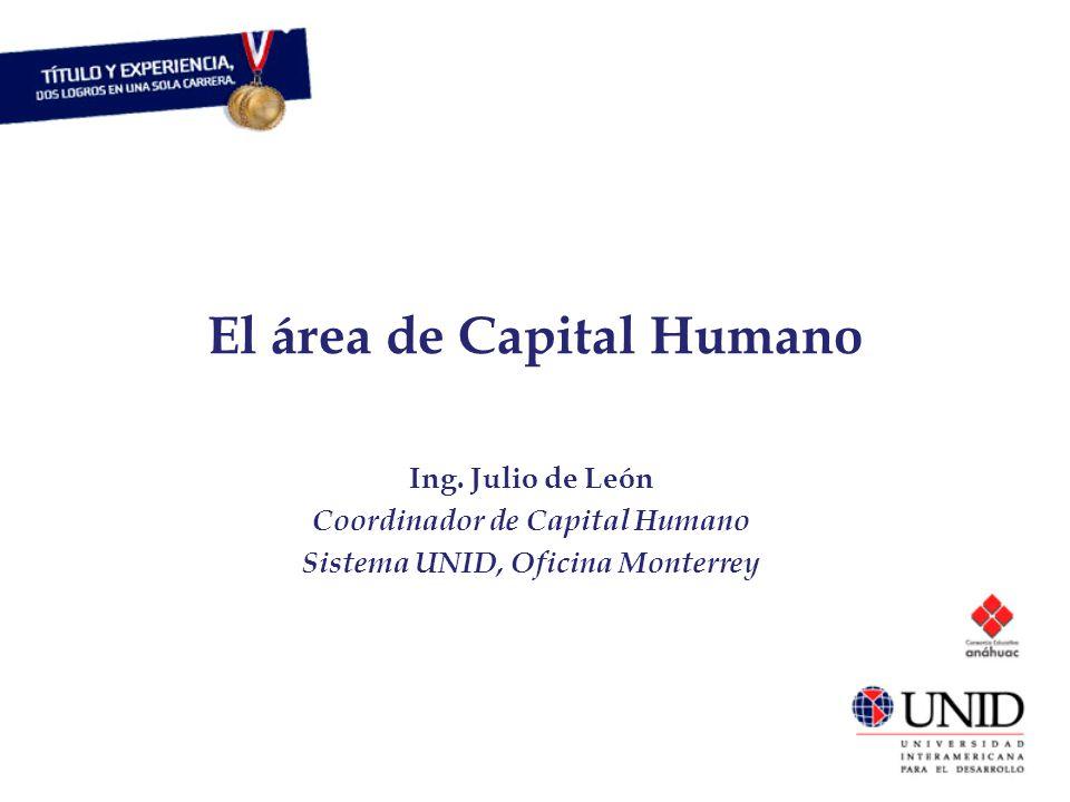 El área de Capital Humano