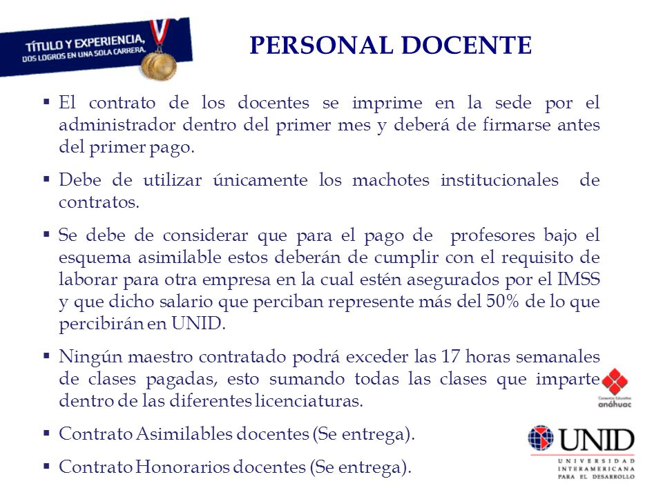 PERSONAL DOCENTE