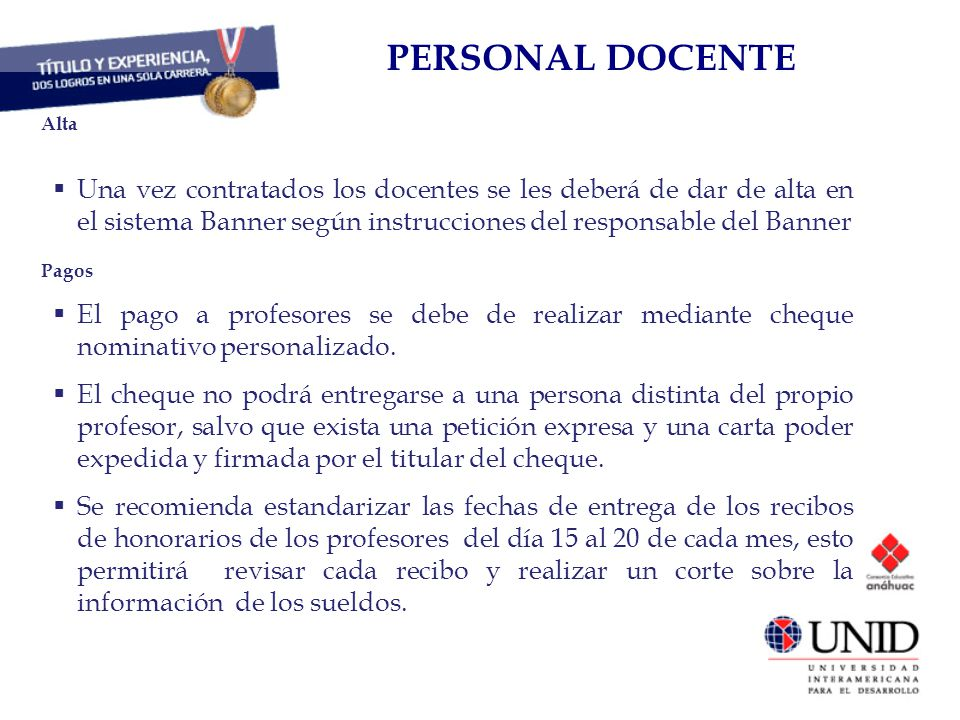 PERSONAL DOCENTE CAPITAL HUMANO