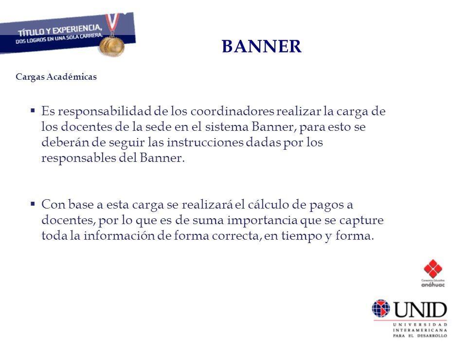 CAPITAL HUMANO BANNER. Cargas Académicas.