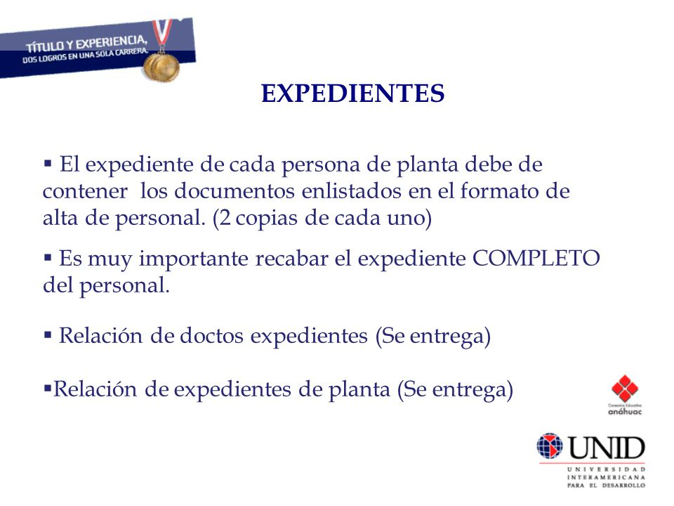 EXPEDIENTES CAPITAL HUMANO