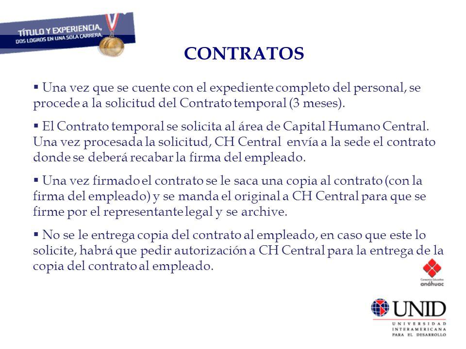 CONTRATOS CAPITAL HUMANO