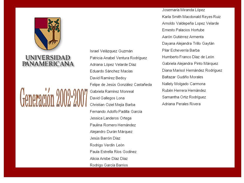 Generación 2002-2007 Josemaría Miranda López