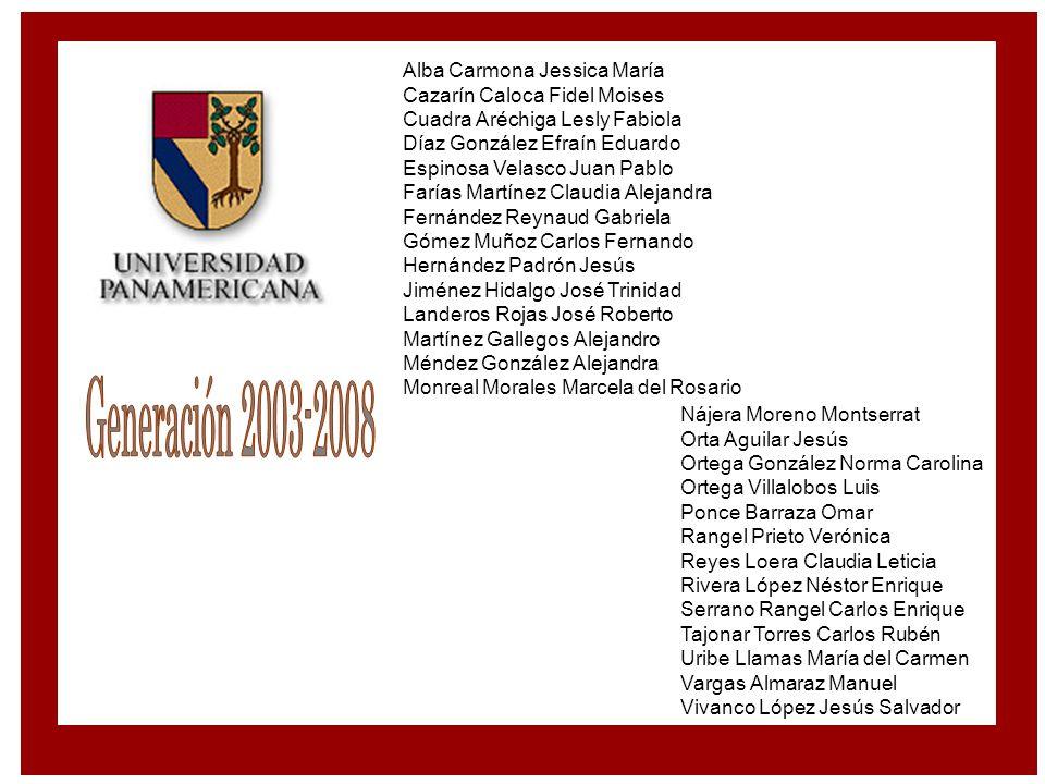 Generación 2003-2008 Alba Carmona Jessica María