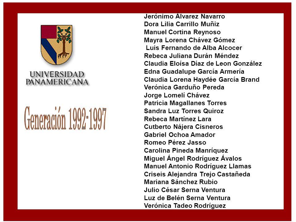 Generación 1992-1997 Jerónimo Álvarez Navarro