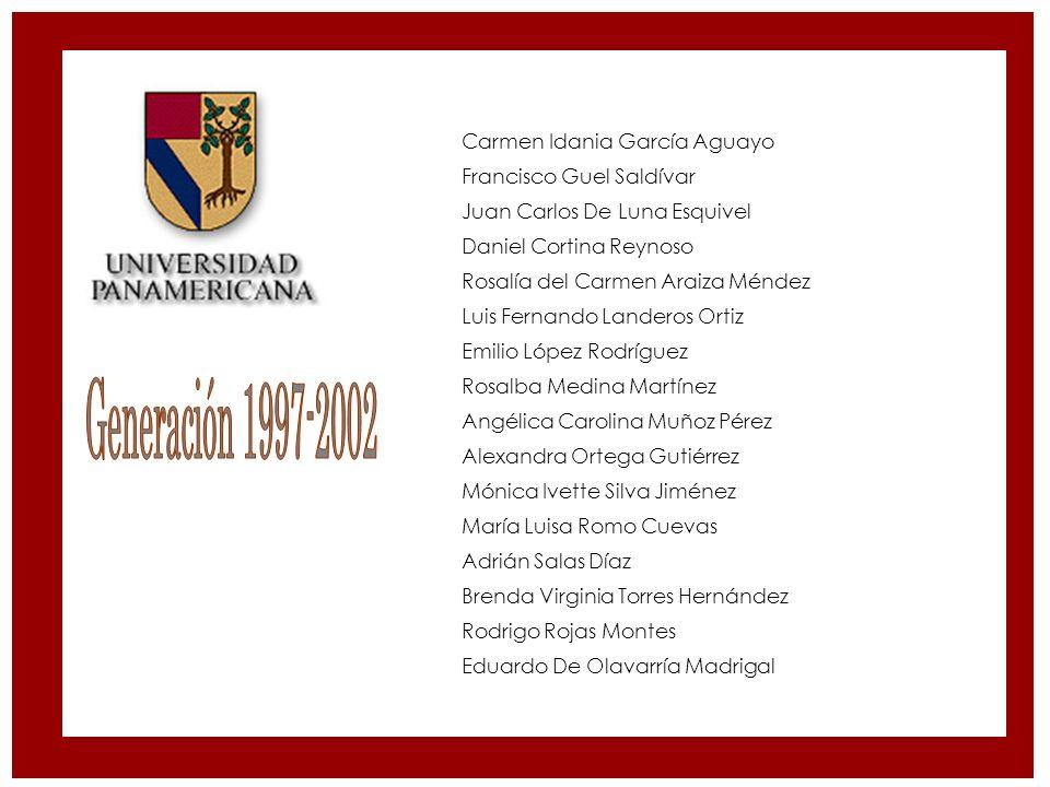 Generación 1997-2002 Carmen Idania García Aguayo