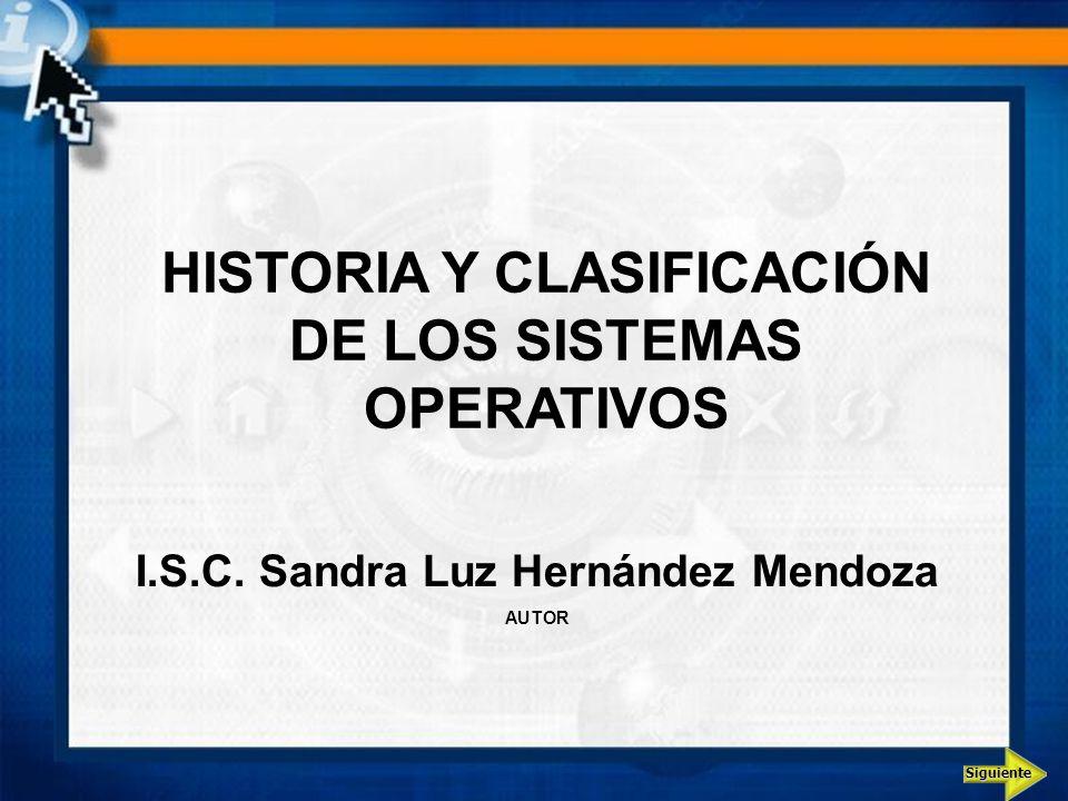 HISTORIA Y CLASIFICACIÓN DE LOS SISTEMAS OPERATIVOS
