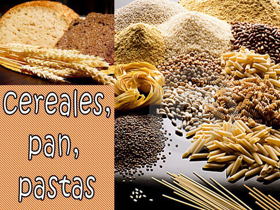 cereales, pan, pastas