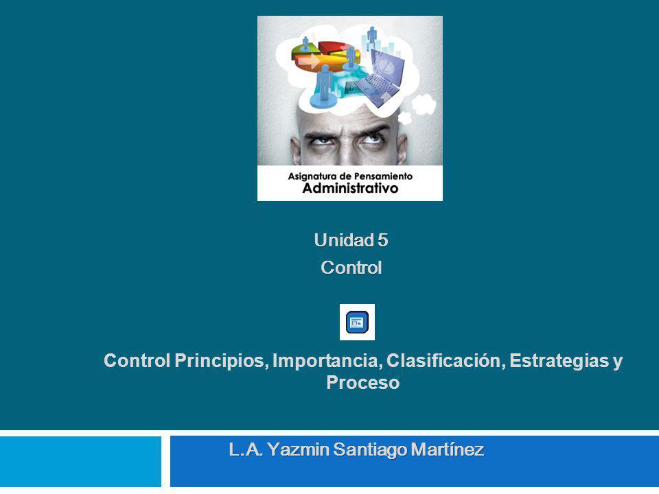 Control Principios, Importancia, Clasificación, Estrategias y Proceso