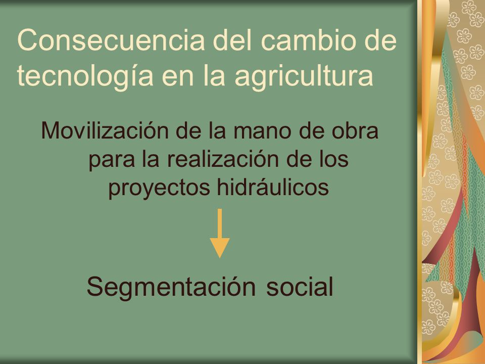 Consecuencia del cambio de tecnología en la agricultura