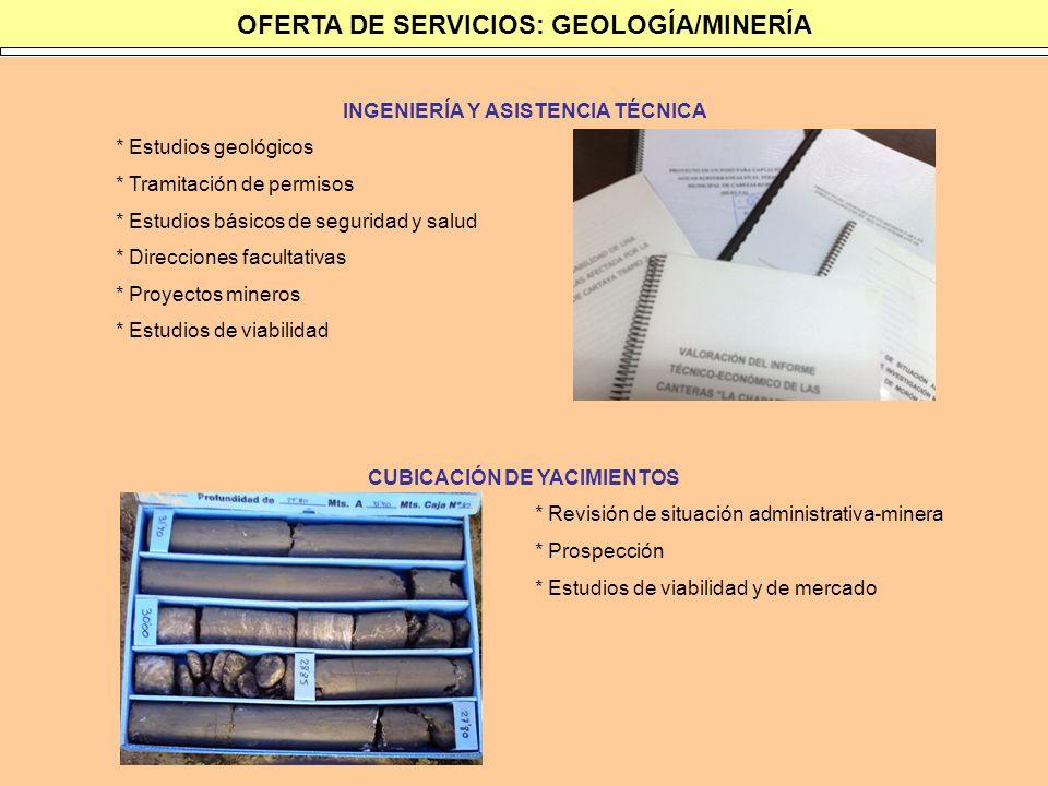 OFERTA DE SERVICIOS: GEOLOGÍA/MINERÍA