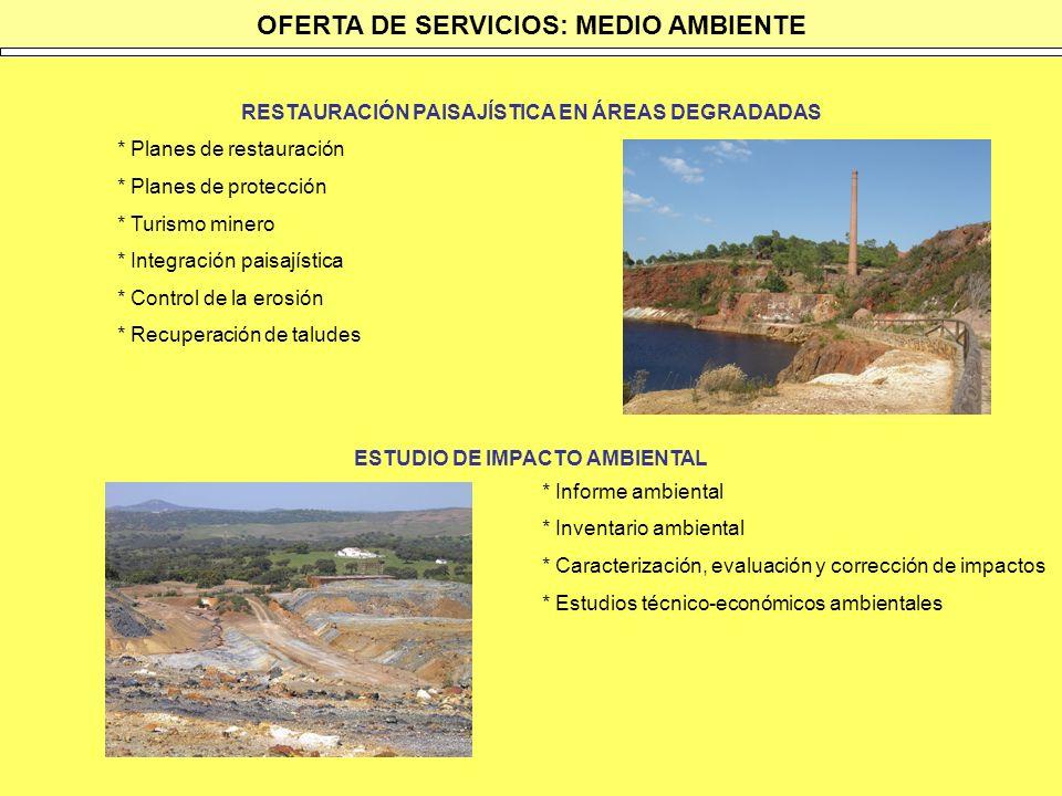 OFERTA DE SERVICIOS: MEDIO AMBIENTE