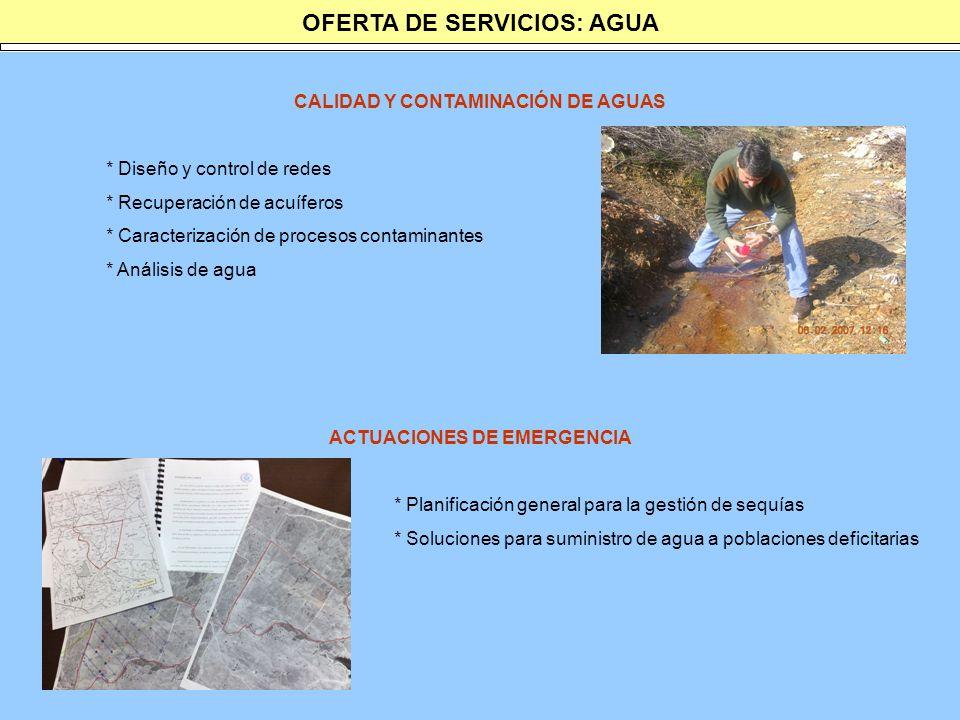 OFERTA DE SERVICIOS: AGUA