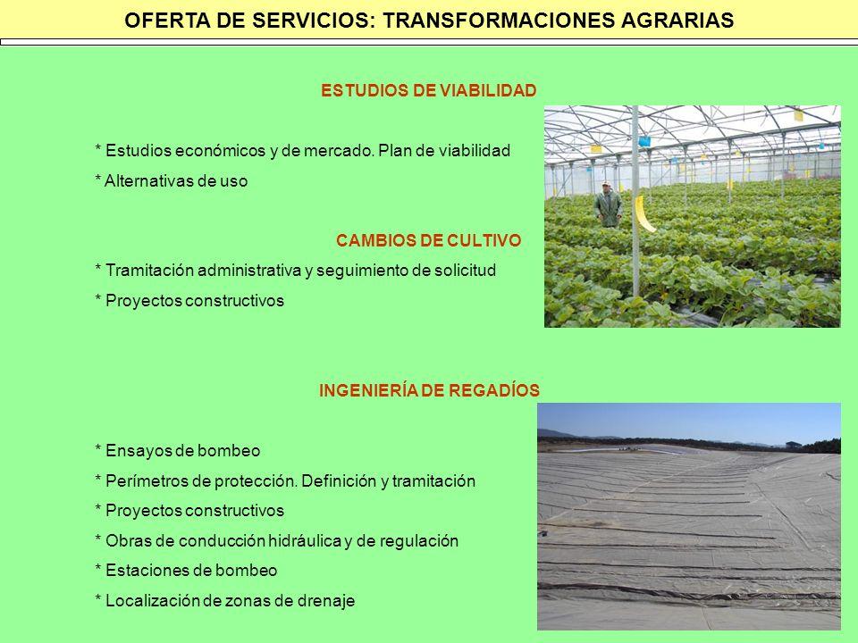 OFERTA DE SERVICIOS: TRANSFORMACIONES AGRARIAS