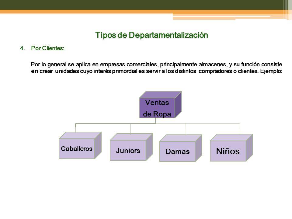 Tipos de Departamentalización