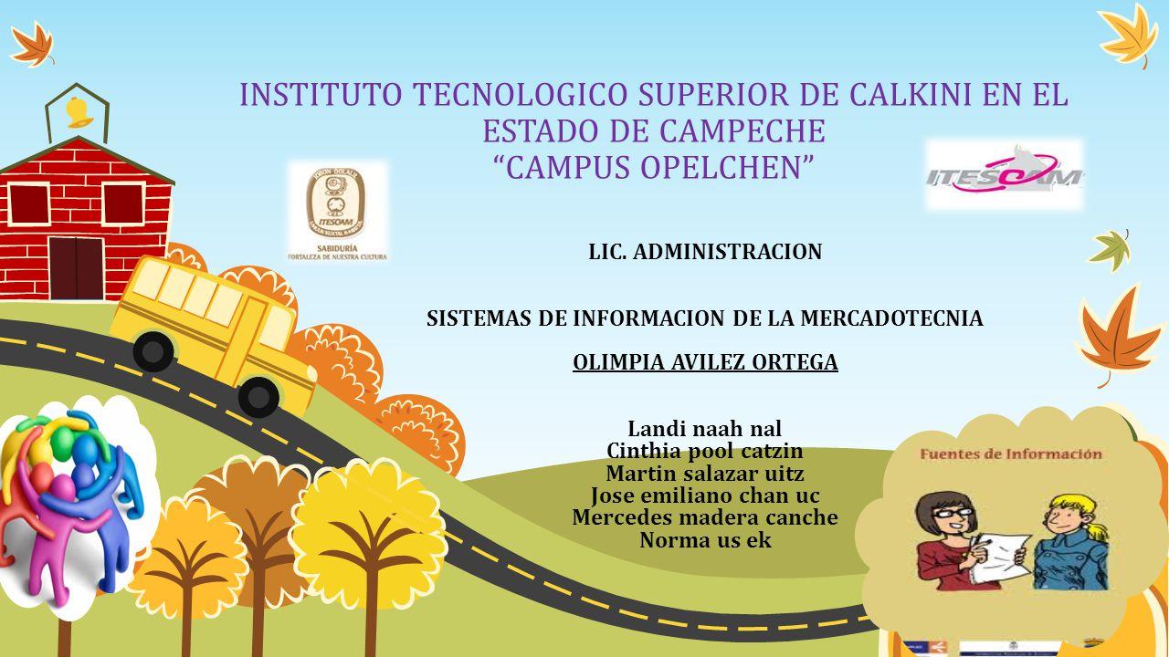 SISTEMAS DE INFORMACION DE LA MERCADOTECNIA Mercedes madera canche