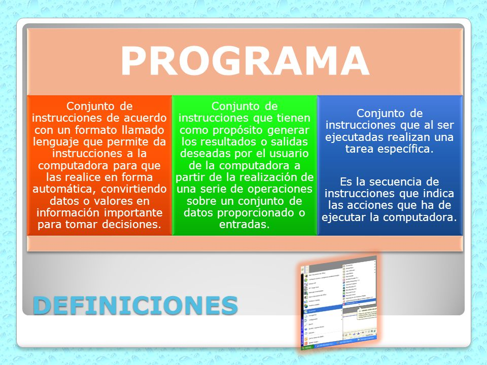 PROGRAMA DEFINICIONES