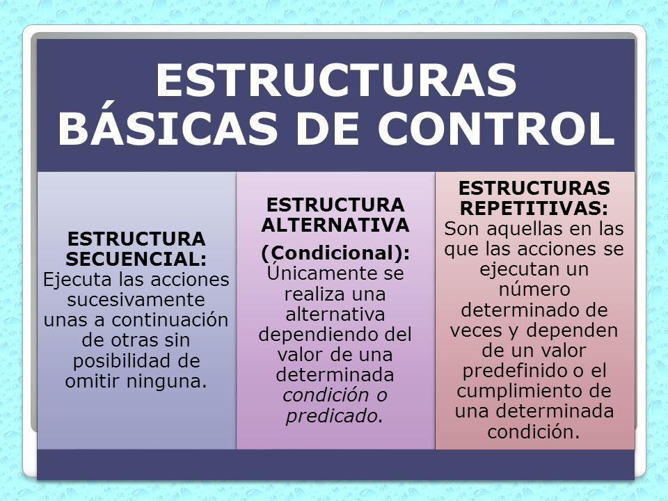 ESTRUCTURAS BÁSICAS DE CONTROL ESTRUCTURA ALTERNATIVA