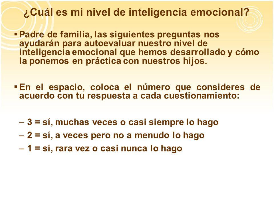 ¿Cuál es mi nivel de inteligencia emocional