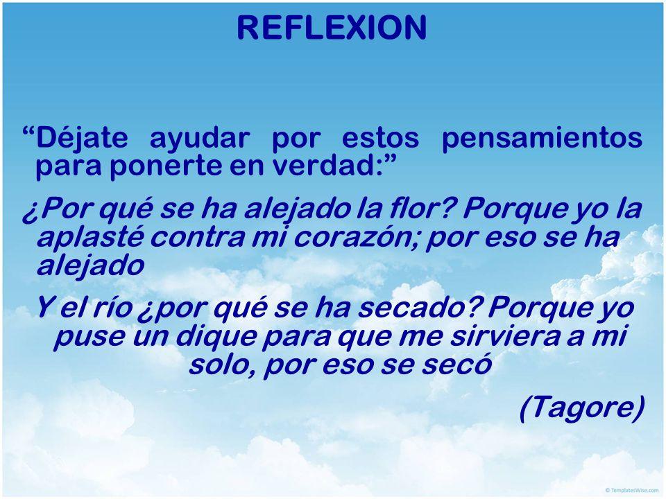 REFLEXION Déjate ayudar por estos pensamientos para ponerte en verdad: