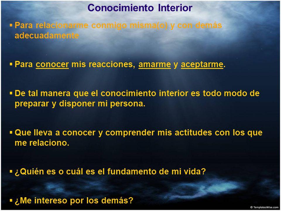 Conocimiento Interior