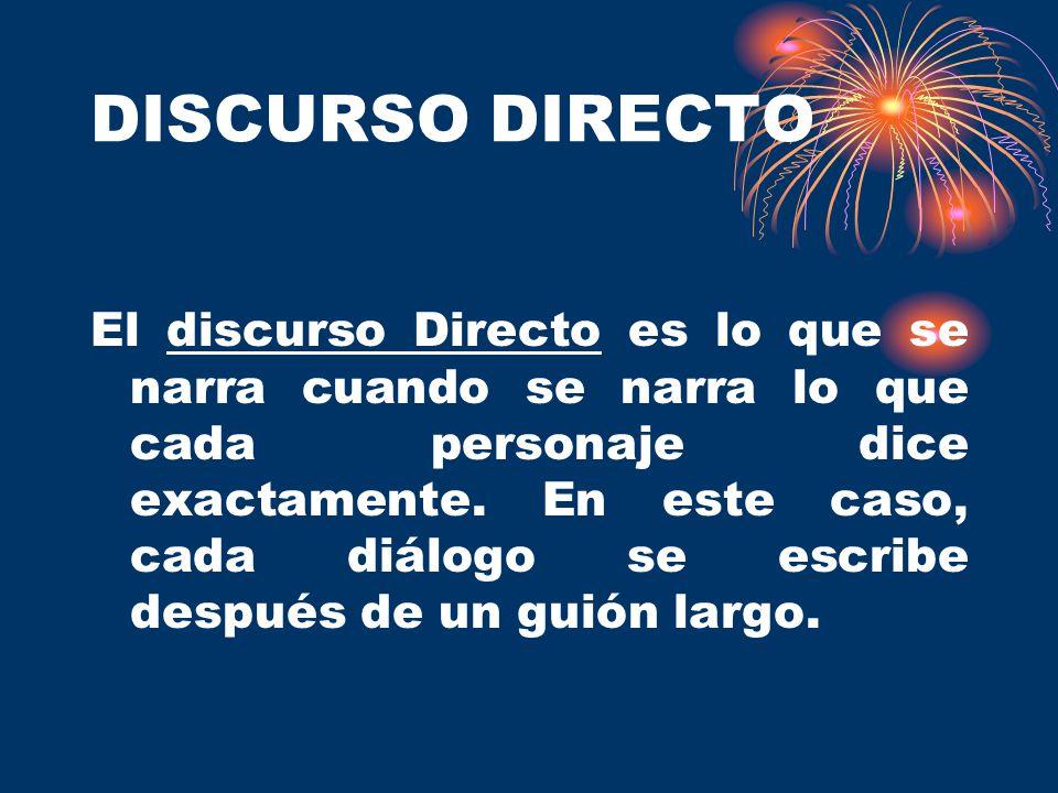 DISCURSO DIRECTO