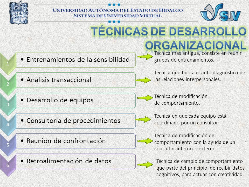Técnicas DE Desarrollo Organizacional