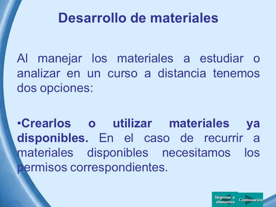 Desarrollo de materiales