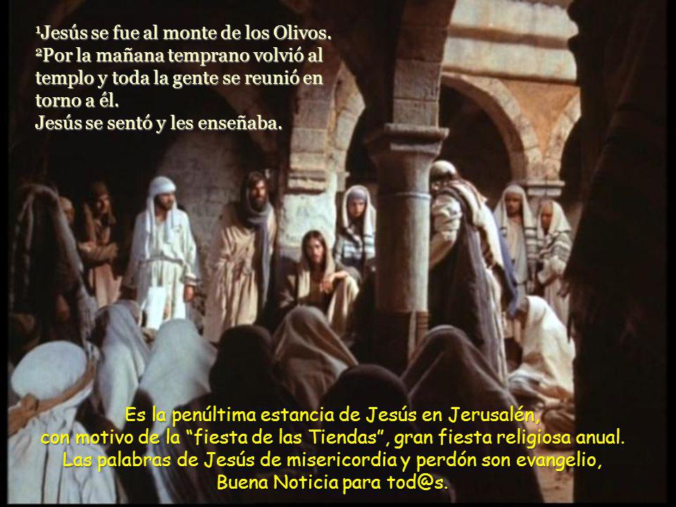 1Jesús se fue al monte de los Olivos