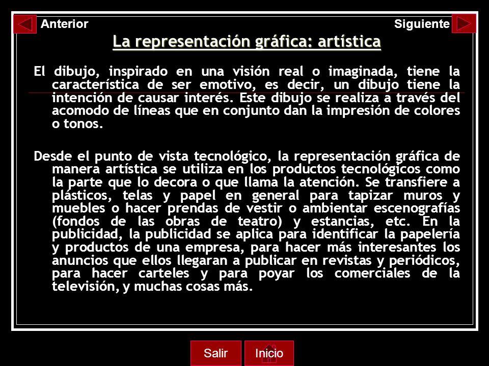 La representación gráfica: artística