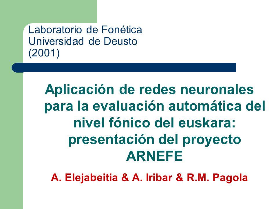 Laboratorio de Fonética Universidad de Deusto (2001)