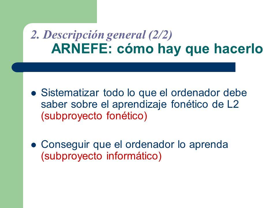 2. Descripción general (2/2) ARNEFE: cómo hay que hacerlo