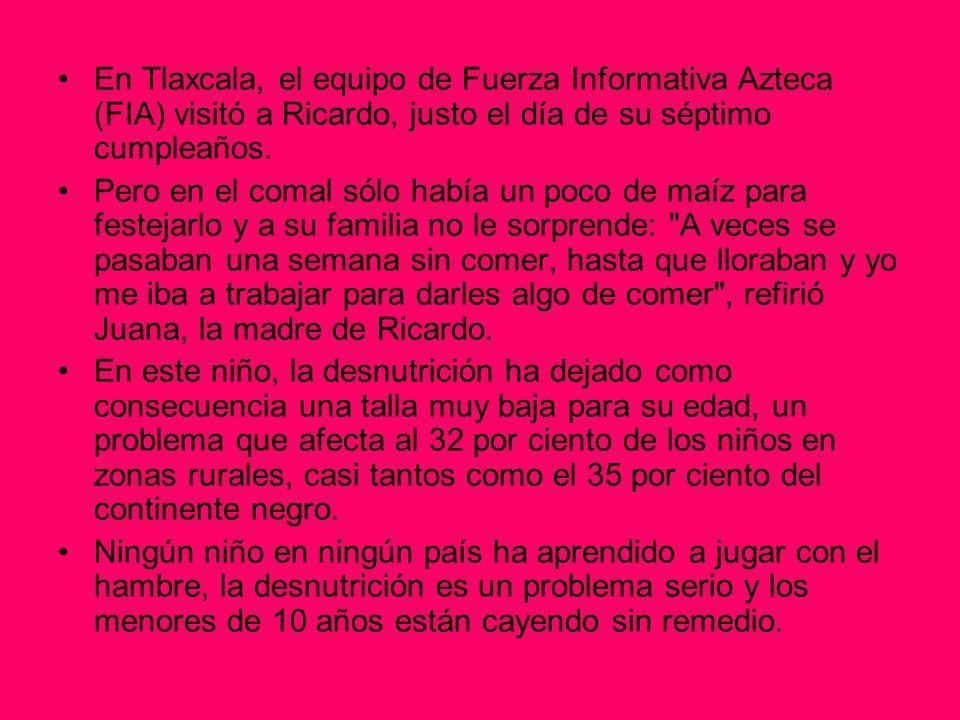 En Tlaxcala, el equipo de Fuerza Informativa Azteca (FIA) visitó a Ricardo, justo el día de su séptimo cumpleaños.