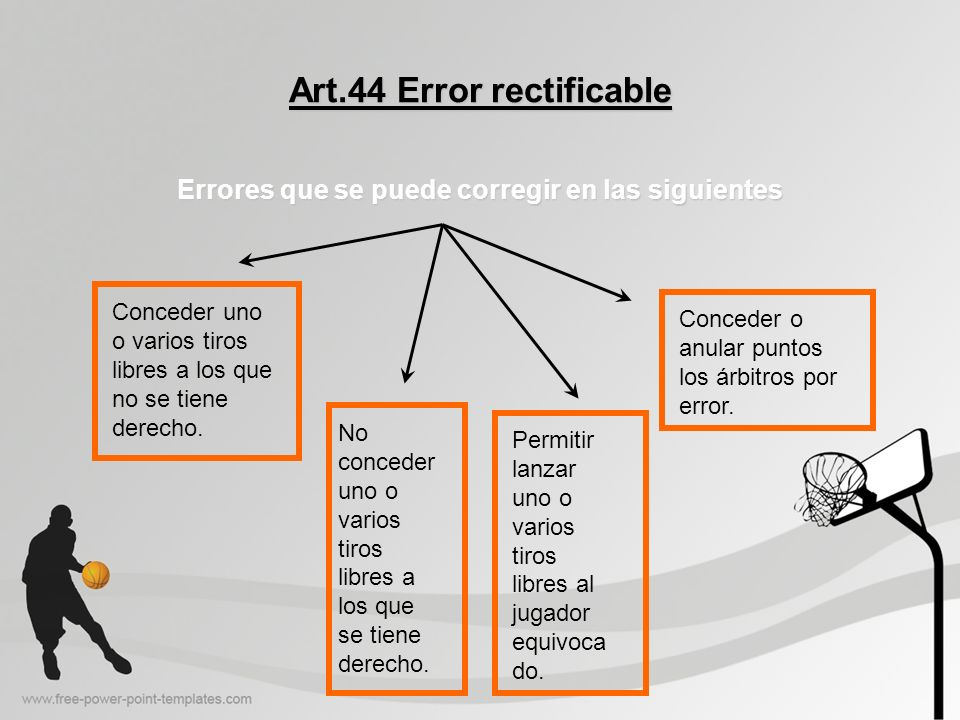 Art.44 Error rectificable